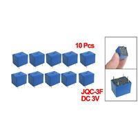 10 x DC 3V Coil 10A/125V AC 10A/28V DC 5 Pins SPST Power Relay JQC-3F T1
