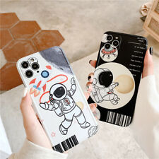 Cartoon Astronaut Soft Phone Cover For iPhone 11 Pro XS Max XR X 7 8 Plus Cases