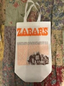 ZABAR'S (New York City Gourmet Grocery) Plastic Laminated Grocery Tote Bag