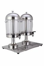 Stainless Juice Drink Double Dispenser Beverage Hotel Cafe Buffet Machine 16L