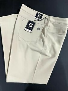 1 NWT FOOTJOY MEN'S PANTS, SIZE: 38 X 30, COLOR: KHAKI (STZ1)