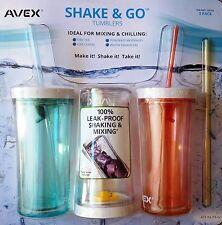 AVEX/Contigo Shake & Go Tumbler Ice Coffee Tea Beverage Water Bottle Cup New