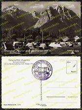 """Garmisch Grainau Schmölz Camping-Platz """"Zugspitze"""" Auto Mercedes-Benz Zelte 1956"""