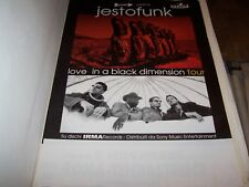 "JESTOFUNK -POSTER ITALY TOUR ""LOVE IN A BLACK DIMENSION"