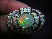 glamouröser Opal Ring strahlender Feueropal 925 Sterling Silber riesig Gr. 54