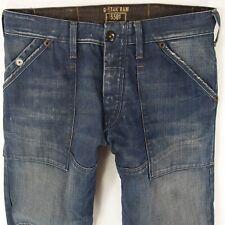 Mens G-Star FIRE ELWOOD Combat Style Blue Jeans W32 L34