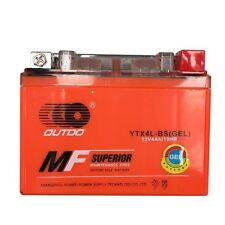 Motorcycle Battery YTX4L-BS Replacement for Adventure Power YT4L-BS GT4L-BS