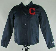 Cleveland Indians MLB Starter Women's Full Snap Collared Navy Jacket