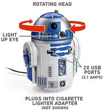R2D2 USB Car Charger That Whistles & Beeps in Your Cup Holder - Animated Star...