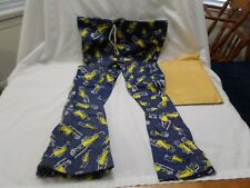 VINTAGE NEW  MR. PEANUT Bell Bottom PANTS DRAWSTRING XL MEN'S (40 - 42)
