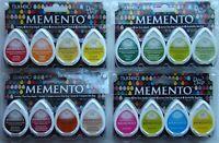 Beach Party Tsukineko 4-Pack Assortment Memento Dew Drops Fade-Resistant Ink