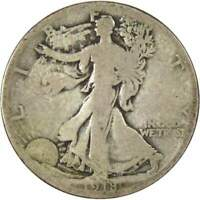 1918 S Liberty Walking Half Dollar AG About Good 90% Silver 50c US Coin
