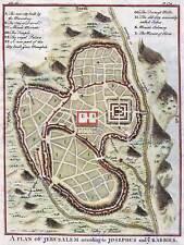 Mapa Antiguo plan ciudad palestina 30X40CM Fine Art Print Jerusalén cartel BB8159