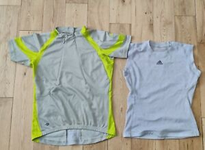 Adidas Short Sleeve Cycling Jersey & Inner Clip on off Vest Size Small.