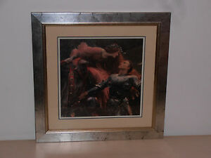 Stunning professionally framed Medieval picture ready to hang. Frame 49 x 49 cms