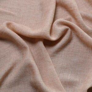 Wool Gauze fabric - 30% wool 70% viscose - Cream, pink/beige - Dress fabric