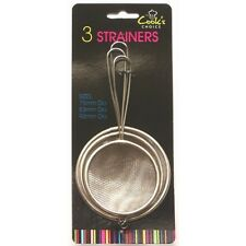 3 Stück Edelstahl Sieb Netz Sieb Sieb Küche Sieb Tee Filter  Set