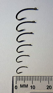 Mustad Signature C49SNP-BR Curved Caddis/Scud Fly Hooks in sizes #8 to #18