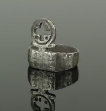 ANCIENT ROMAN SILVER RING KEY - CIRCA 1st-2nd AD  012