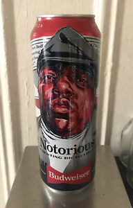 Budweiser Can 25oz   Notorious B.I.G Opened Limited Edition