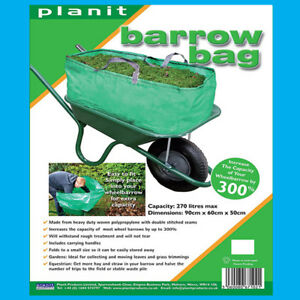 Carretilla Bolsa,Residuos de Jardín Disposición Triple Capacidad Easy Fit 270L