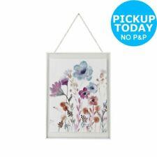 Glass Nature Floral Wall Hangings