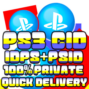 PS3 CID I PLAYSTATION 3 CONSOLE IDPS PSID I 100% PRIVATE I QUICK DELIVERY !!