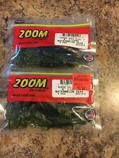 "Lot 2 Zoom Bait 002-019 Lizard 6"" Watermelon Seed 9 Pk Fishing Soft Plastic Lure"