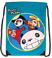 *NEW* Panda! Go Panda! Greeting Drawstring Bag by GE Animation