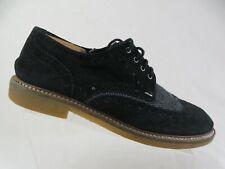 ALDO Black Sz 11 Men Suede Wingtip Dress Shoe Oxfords
