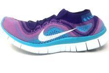 Nike Free Flyknit+ 5.0 Womens Size 10 M Atomic Purple Running Shoes 615806-515