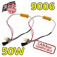 2 x 9006 50w LED Errore cancelers 6ohm LED Fog Lights-Errore sicuro Free-CANBUS