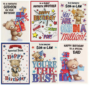 MALE RELATIONS BIRTHDAY CARD VARIOUS DESIGNS  GREAT VALUE!
