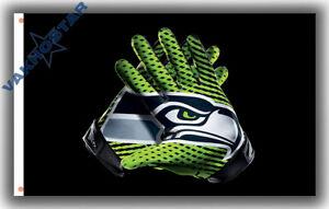 Seattle Seahawks Football Team Memorable Gloves Flag 90x150cm 3x5ft best Banner