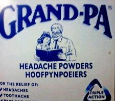 Grand-Pa Headache Powder South Africa's  No:1 pain relief. 50  units. $9.95