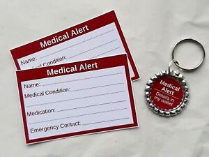 Medical Alert Keyring & Cards by Curiosity Crafts