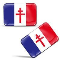 3D Autocollant France Libre Résistance Flag Sticker Drapeau de Gaulle Français