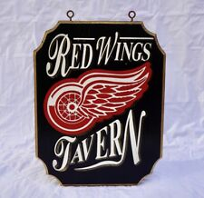 Red Wings Tavern Hanging Bar Sign