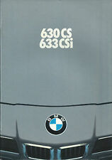 1977 BMW 6-Series Brochure • Prospekt • Folder • 630 CS, 635 CSi