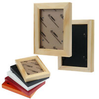 Fashion Home Decor Wooden Picture Frame Wall Mounted Hanging Photo Fram Hoc