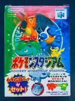 Pokemon Stadium + GB Pak Nintendo 64 N64 Japan Box Manual CIB w/Hagaki Reg Card
