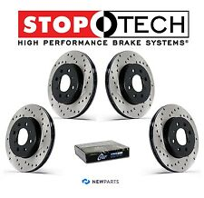 NEW Front & Rear Drilled Brake Discs Rotors KIT StopTech Fits Subaru WRX 02-05