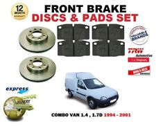 FOR OPEL VAUXHALL COMBO 1.4 1.7D 1994-2001 NEW FRONT BRAKE DISCS SET + PAD KIT