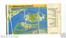EXPO 67 MONTREAL Worlds Fair LUFTHANSA AIRLINES GUIDE TO EXPO slide card
