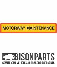 """+ Camion & Rimorchio Posteriore Marker BOARD """"AUTOSTRADA MANUTENZIONE"""" IN ALLUMINIO BP76-109"""