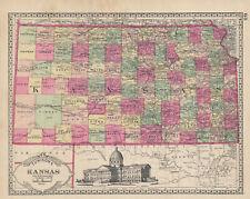 1889 Tunison Map of KANSAS