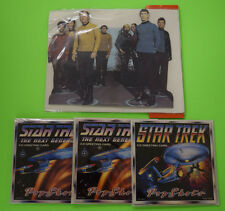 Star Trek 3X 3D Greeting Card Classic and The Next Generation + Stand Me Up Card