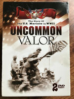 Uncommon Valour DVD Caja Juego Story Of Eeuu Marines en WWII Documentaries