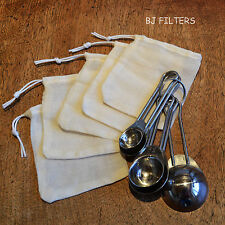 """5 X WINE MAKING - INFUSION-STEEPING-BEER BREWING-FERMENTATION  MUSLIN BAGS 3""""X4"""""""