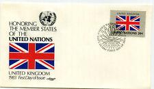 United Nations #399 Flag Series, United Kingdom Artmaster, FDC
